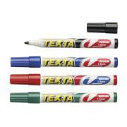 Texta Wb1 Whiteboard Marker Bullet  Med 1.5mm Assorted Colours Set 4
