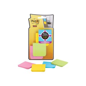 Post-It Super Sticky Notes Full Adhesive Assorted Brights 50.8 x 50.8mm Pack 8