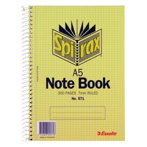 Spirax 571 Notebook A5 300 Page