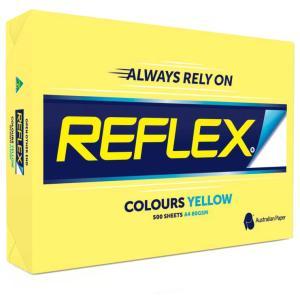 Reflex Colours Copy Paper A4 Yellow 500 Sheet