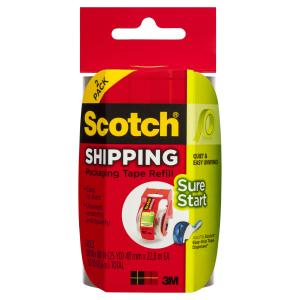 Scotch DP-1000-RR-2 Easy Grip Packaging Tape 48mm x 22.8m Pack 2