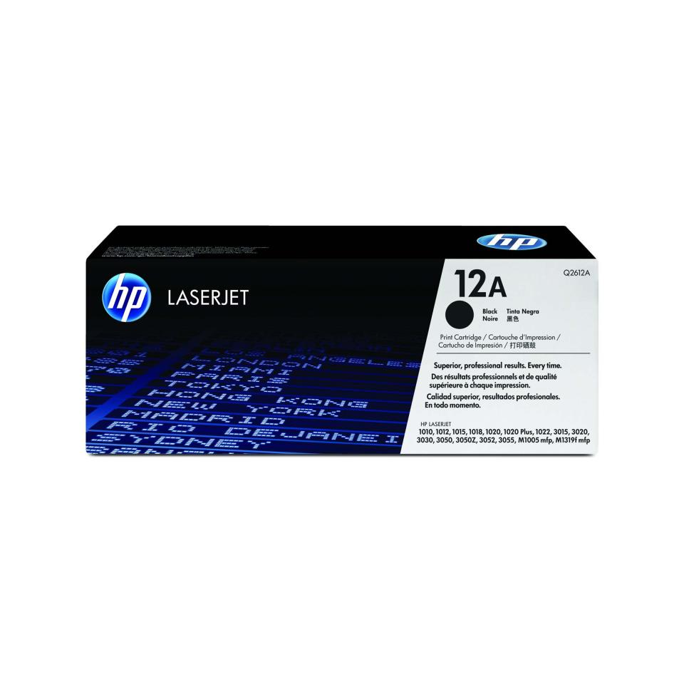 HP LaserJet 12A Black Toner Cartridge - Q2612A