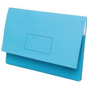 Marbig Slimpick Document Wallet Foolscap Light Blue Pack 10