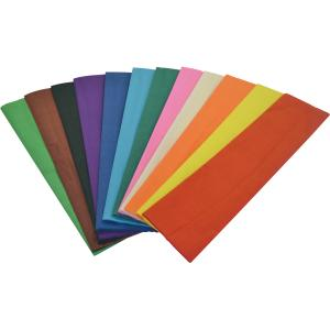 Rainbow Crepe Paper 500mmx2.5m Assorted Colours Pkt 12