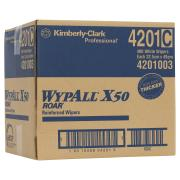 Wypall 4201 X50 Wipers 34.5Cmx49Cm White Carton 400