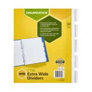 Marbig Dividers Manilla Insertable Extra Wide A4 White 5 Tab