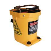 Sabco Wide Mop Bucket Plastic Yellow 16l