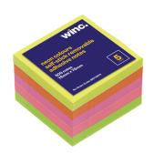 Winc Self-Stick Removable Notes 76 x 76mm Neon 5 Pads Pack