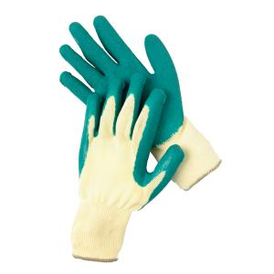 Safechoice Gloves Cotton Rubber Palm Coated Green Large Pair 12 Pack