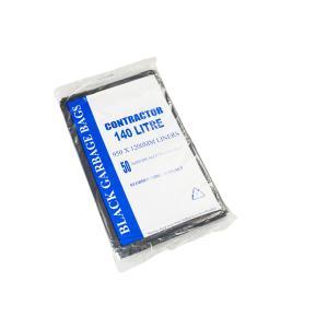 Austar Bin Liners Contractor Heavy Duty 140 Litre Black Packet 50 Carton 200
