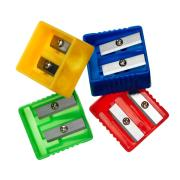 Officemax Plastic Sharpener 2 Hole Assorted Colours