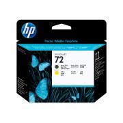 HP 72 Matte Black & Yellow Printhead - C9384A