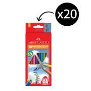 Faber-Castell Triangular Junior Coloured Pencils Pack 20