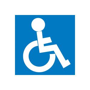 Apli Disabled Sign Blue & White PVC Sheet Self-Adhesive
