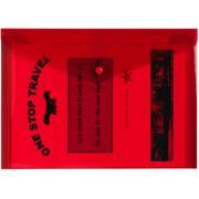 Winc Document Wallet Polypropylene A4 Button - Red