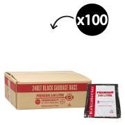 Austar Bin Liners Premium Heavy Duty 240 Litre Black Packet 25 Carton 100