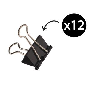 Winc 15mm Foldback Clips Box 12