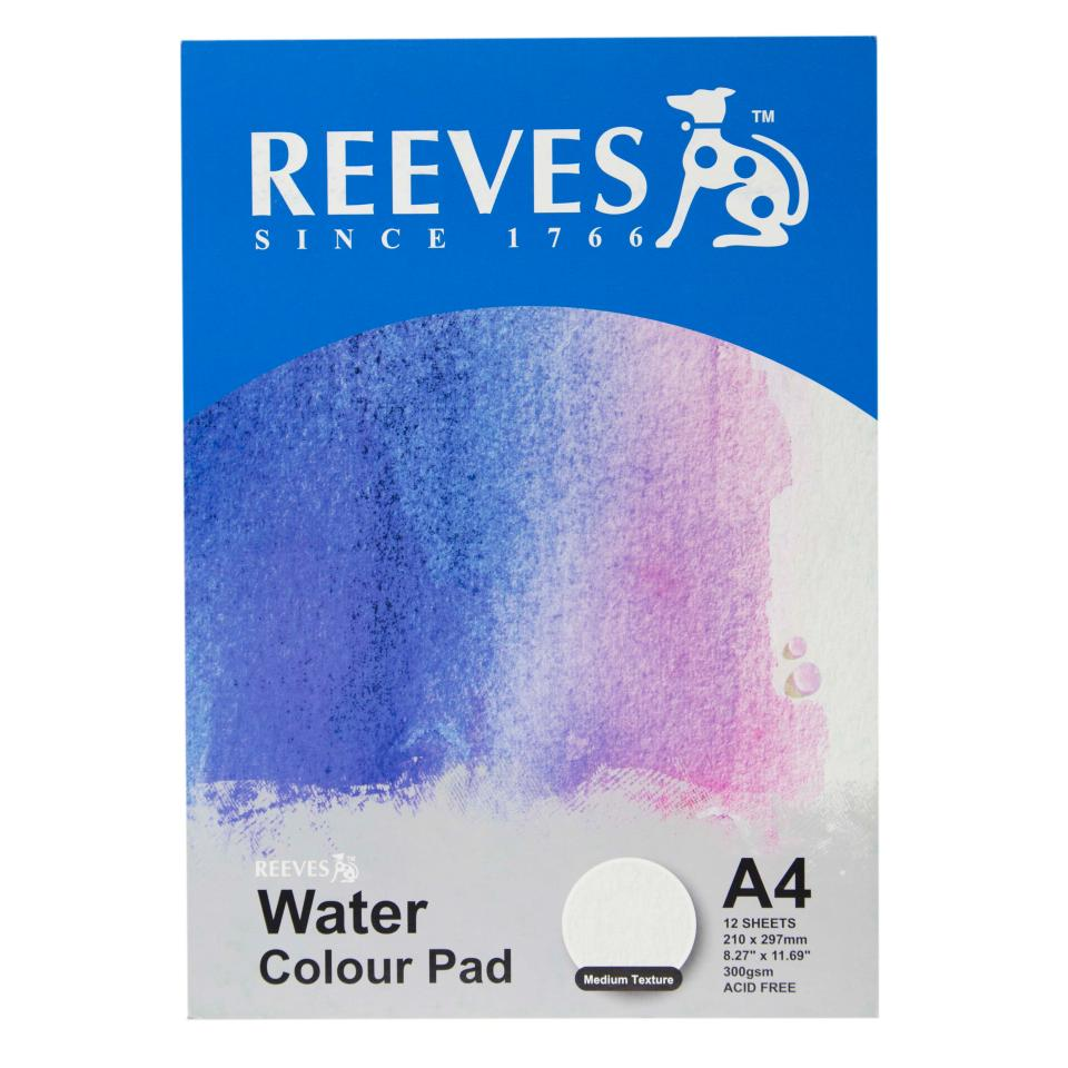 Reeves Water Colour Medium Texture Pad A4