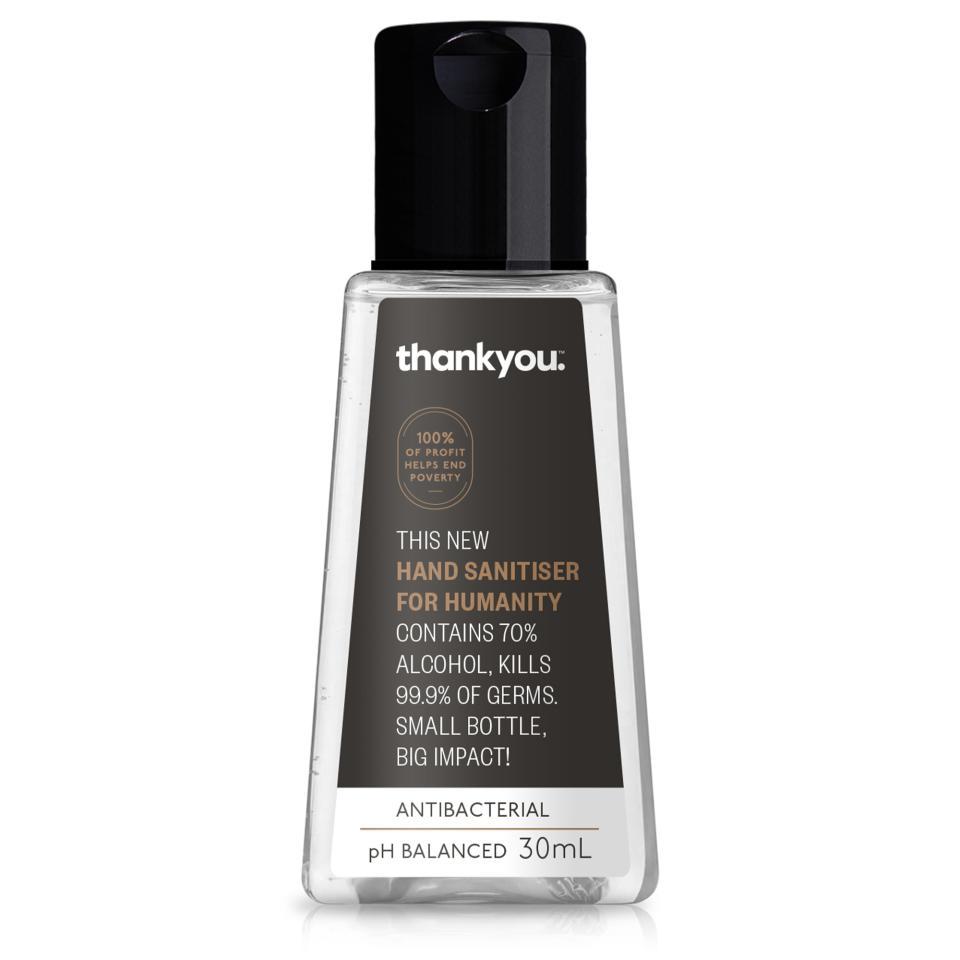 Thankyou Antibacterial Hand Sanitiser For Humanity Flip Top 30ml