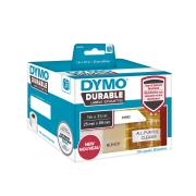 Dymo LW Durable Labels 25mm x 89mm White Poly 700 Labels