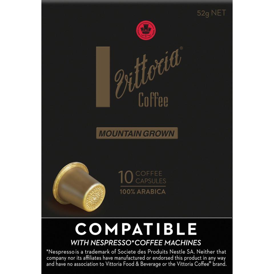 Vittoria Coffee Capsules Mountain Grown Box 10