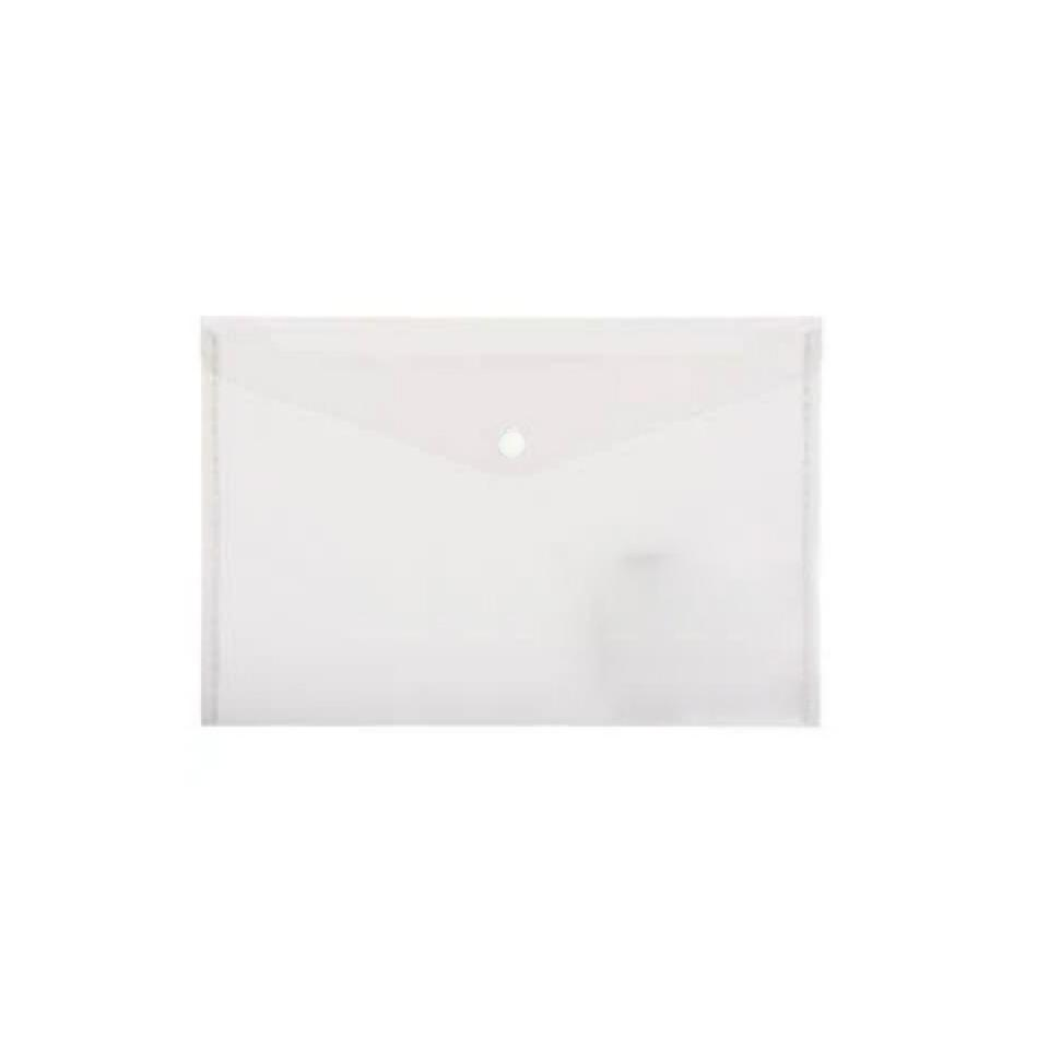 Winc Document Wallet Polypropylene A4 Button Clear
