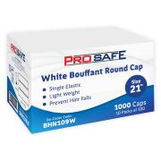 Disposable Bouffant Round Cap 21' PP White Pack 100