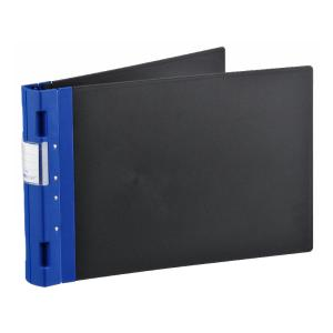 A3 Ergo Binder Landscape Black Cover 50mm 4 Ring Blue