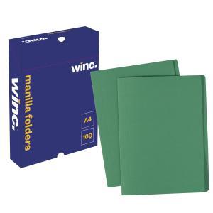 Winc Manilla Folder A4 Green Box 100