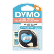 Dymo Letratag Label Printer Plastic Tape 12mm x 4m White