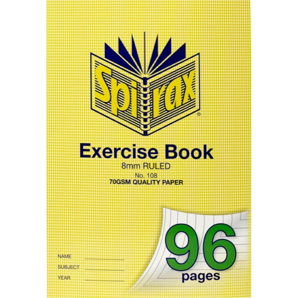 Spirax 108 A4 Exercise Book 96 Pages 8mm Ruled