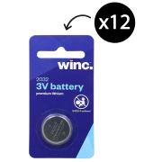Winc CR2032 3V Premium Lithium Battery Box 12