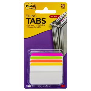 Post-It Filing Tabs Angled 686A-1Bb 50.8 X 38.1mm Assorted Brights