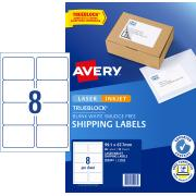 Avery Internet Shipping Labels for Inkjet Printers - 99.1 x 67.7mm - 80 Labels (L7165)