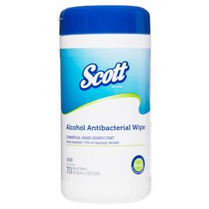 Scott Antibacterial Wipe Tub70