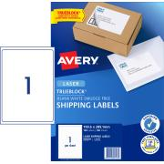 Avery Shipping Labels with Trueblock for Laser Printers - 199.6 x 289.1 mm - 100 Labels (L7167)