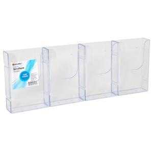 Officemax Wall Mounted Brochure Holder DL 4 Pocket Side By Side