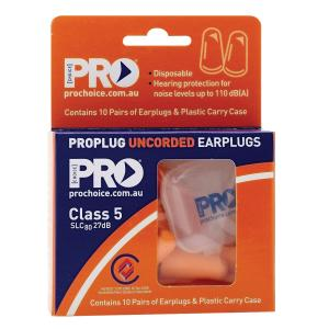 Pro Choice Disposable Uncorded Earplugs Class 5 Pack 10