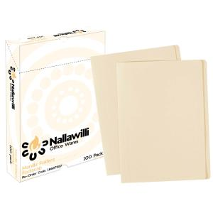 Nallawilli Manilla Folder Foolscap Buff  Box 100