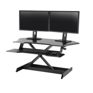 Ergotron Workfit Sit Stand Desk Corner Workstation Black