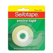 Sellotape Enviro Sticky Tape with Dispenser 12mm x 25m