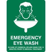 Brady 841538 Sign Emergency Eye Wash Metal 225H X 300W mm