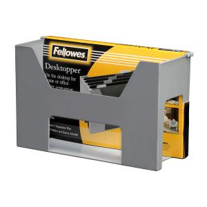 Fellowes Accents Desktopper With Files And Tabs Grey
