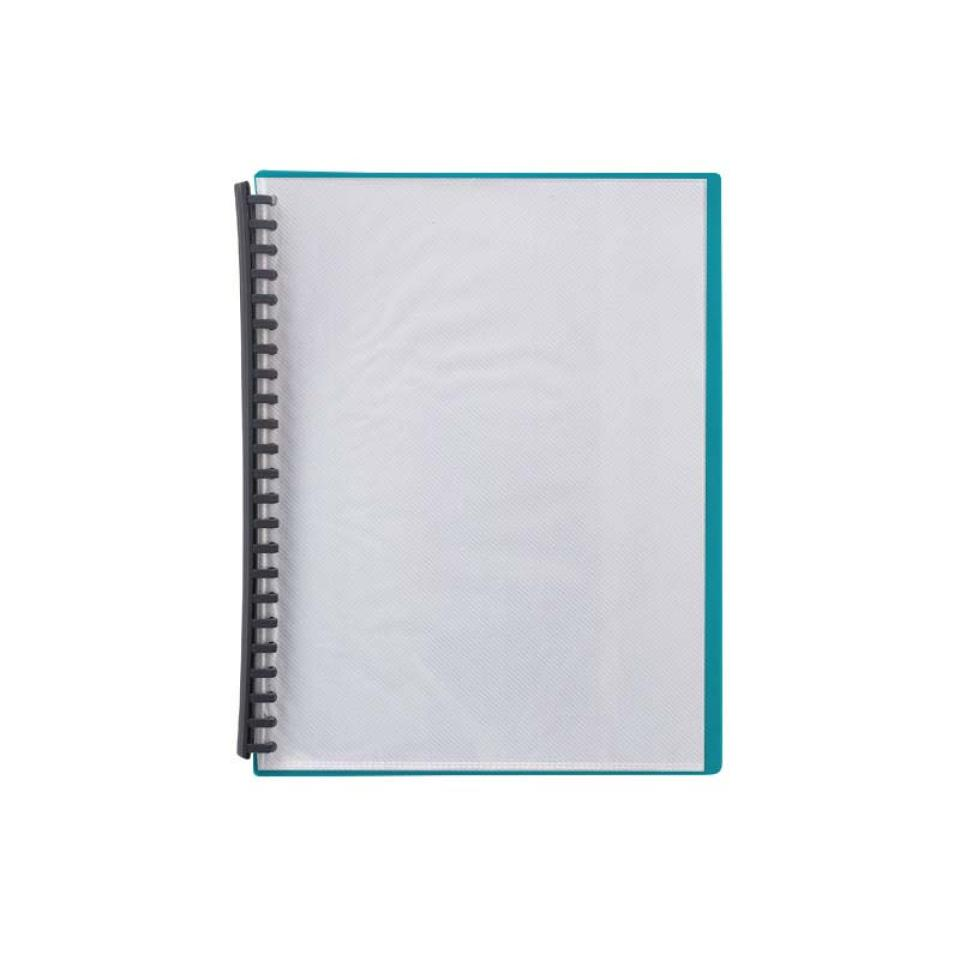 Winc Display Book Refillable A4 20 Pocket Clear front cover Green back cover