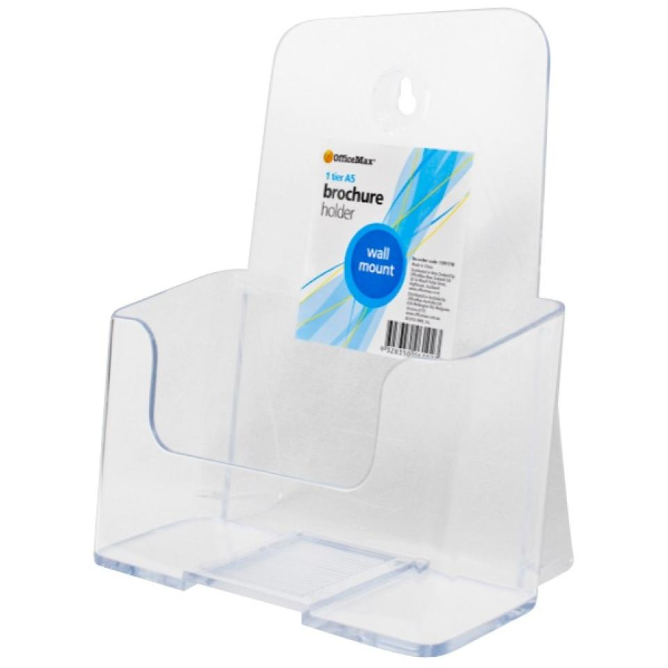 Officemax Wall Mounted Brochure Holder A5 1 Tier