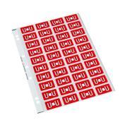 Codafile 162571 Alpha 25mm Label 'U'  Red Pack 200 labels