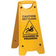 Oates Clean A Frame Caution Wet Floor Sign Yellow