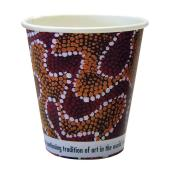 CCAB Indigenous Heavy Board Hot Cup 8Oz/285ml Indigenous Print Pack 50
