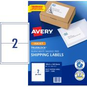 Avery Shipping Labels with TrueBlock for Inkjet Printers - 199.6 x 143.5mm - 50 Labels (J8168)