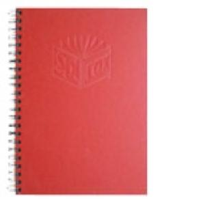 Spirax 512 Notebook A4 Side Opening Hard Cover 200 Page Red